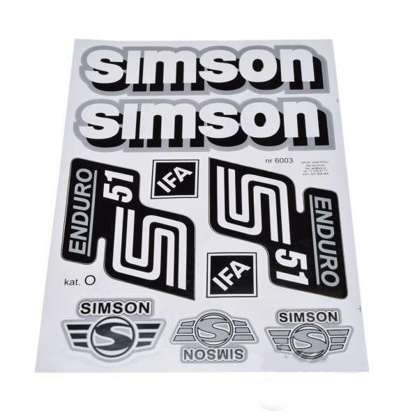 Embléma szett, SIMSON ENDURO