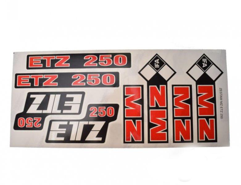 Embléma szett, MZ ETZ 250