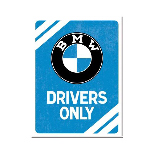 Mágnes, BMW DRIVERS ONLY BLUE 14369