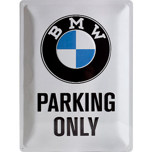 Acéltábla, BMW PARKING ONLY 20x30
