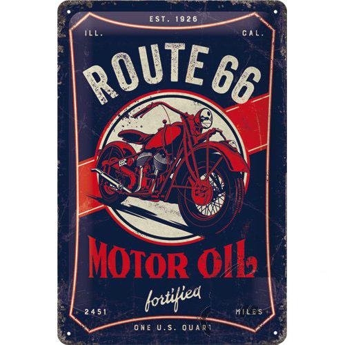 Tábla, 20x30 ROUTE 66 MOTOR OIL 22315