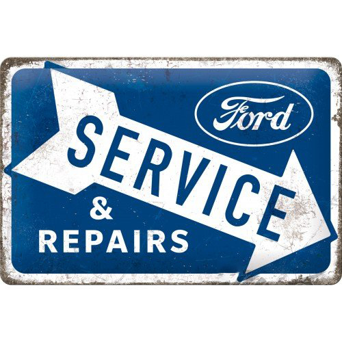 Acéltábla, 20x30 FORD SERVICE & REPAIR 22324