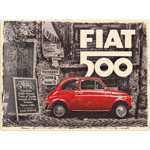 Tábla, 30x40 FIAT 500 RED CAR 23295