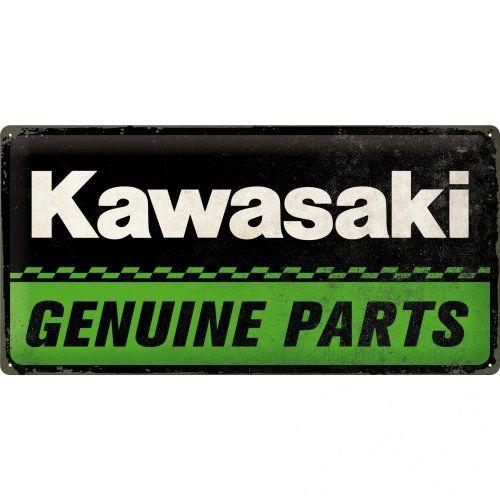 Acéltábla, KAWASAKI GENUINE PARTS 25x50cm