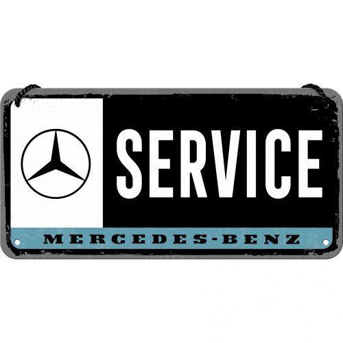 Felakasztható tábla, 10x20 MERCEDES BENZ SERVICE