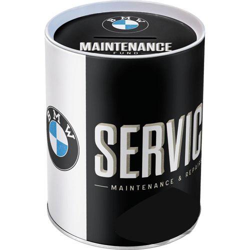 Acél persely pénzérme gyűjtő BMW Service