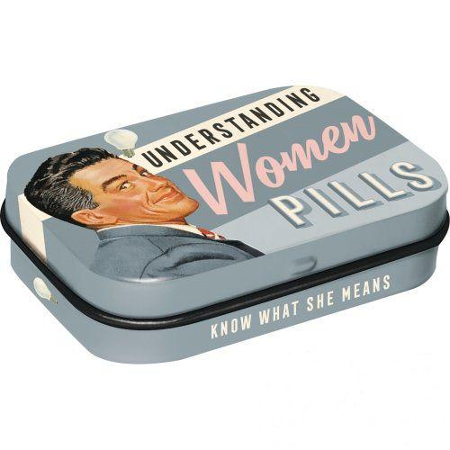 Doboz (cukorkás) UNDERSTANDING WOMEN fém 4b-os szett, mentholos cukorkát tartalmaz