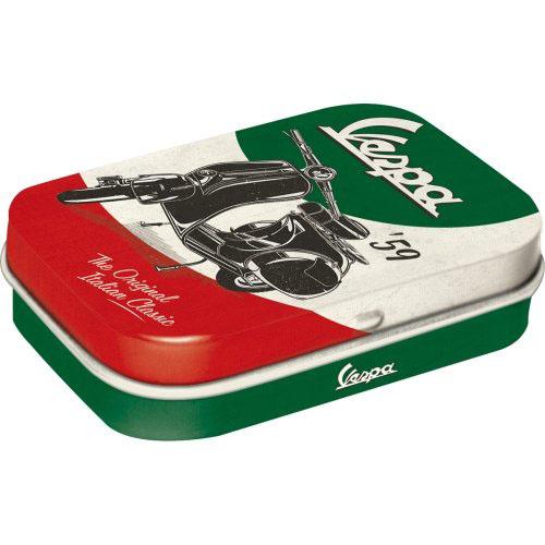 Doboz (cukorkás) VESPA THE ITALIAN CLASSIC fém 4b-os szett, mentholos cukorkát tartalmaz