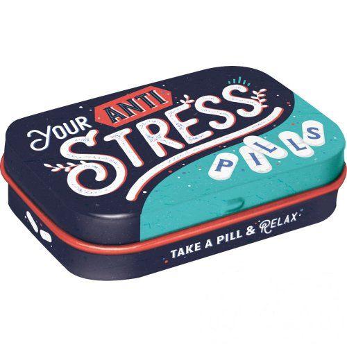 Doboz (cukorkás) ANTI STRESS PILLS 4b-os szett, mentholos cukorkát tartalmaz