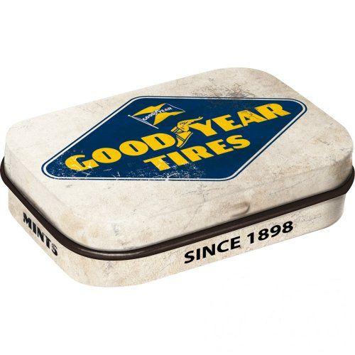 Doboz (cukorkás) GOOD YEAR fém, 4b-os szett, mentholos cukorkát tartalmaz