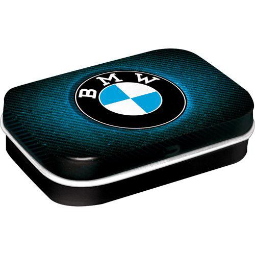 Doboz (cukorkás), BMW fém, 4b-os szett, mentholos cukorkát tartalmaz