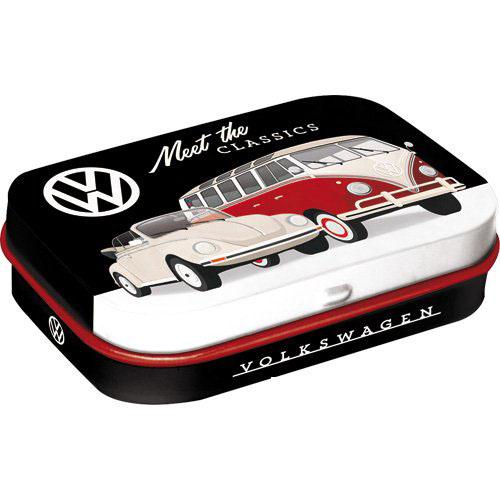 Doboz (cukorkás), VW Beetle cabrio fém 4b-os szett, mentholos cukorkát tartalmaz