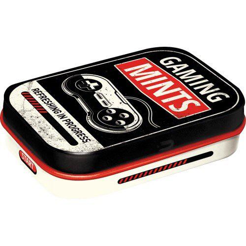 Doboz (cukorkás) GAMING  81412 fém 4b-os szett, mentholos cukorkát tartalmaz
