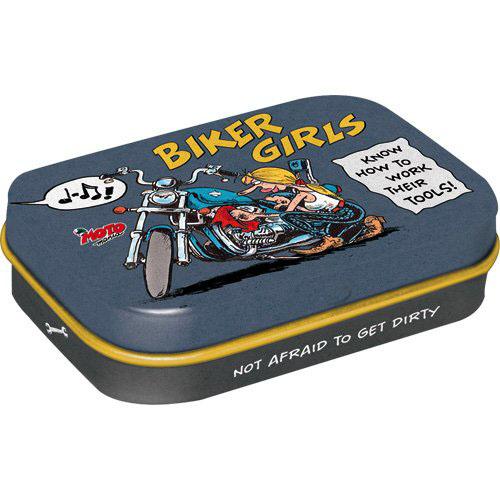 Doboz (cukorkás), BIKER GIRLS 4db-os szett, mentholos cukorkát tartalmaz