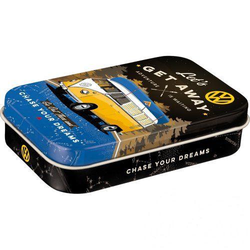 Doboz (cukorkás) VOLKSWAGEN XL fém mentholos cukorkát tartalmaz