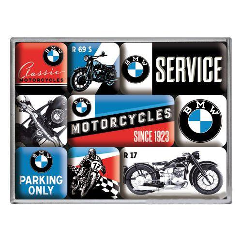 Hűtőmágnes szett, 9 darabos, BMW MOTORCYCLES SET 83077