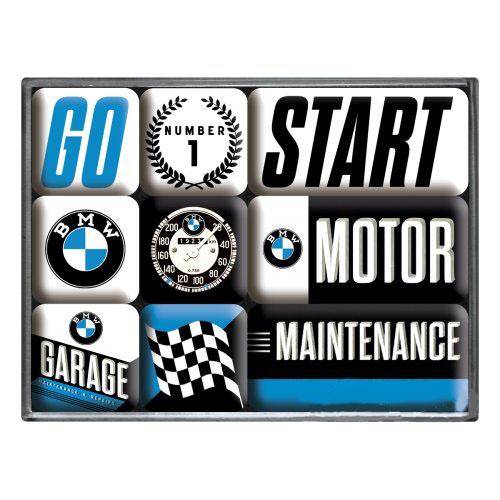 Hűtőmágnes szett, 9 darabos, BMW MOTOR SET 9 PCS 83097