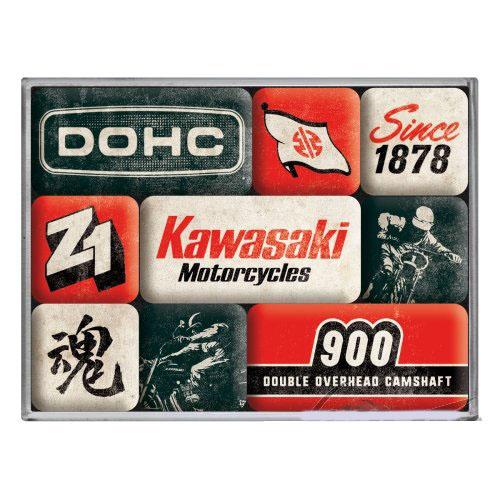 Hűtőmágnes szett, 9 darabos, KAWASAKI MOTORCYCLE SET 83114