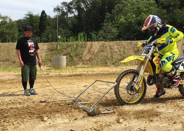 Motocross indulás gyakorló állvány