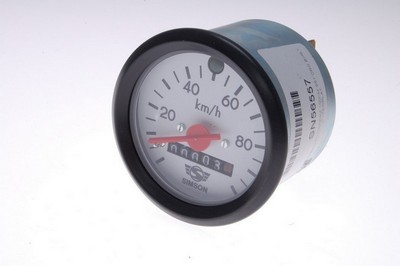 sebességmérő műszer 100KM Simson S51 ORG fehér számlap
