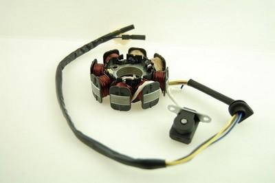 generátor állórész komplett, generátor/gy. 4ütem 8 tekercs GY6 5