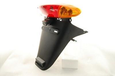 lámpa szett hátsó komplett +sárvédő QT-4.sárga index búrás