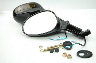 tükör szett, visszapillantó fekete +irányjelző lámpa QT-4