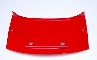 fedél /idom, középső, hátsó felső N.A.125 piros