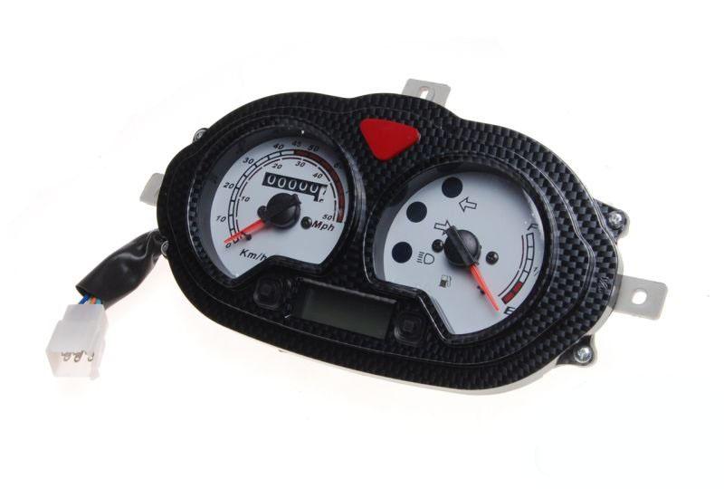 Sebességmérő műszer, 80km/h (karbon mintás)