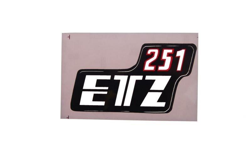 Embléma ETZ 251 oldal idomra 10db