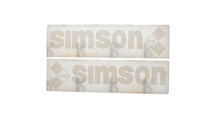 Embléma SIMSON Fehér 10db