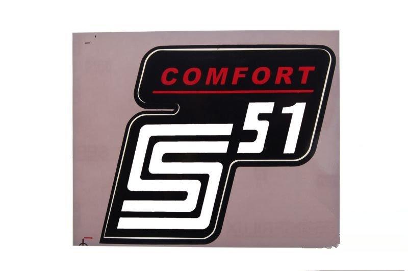 Embléma SIMSON Comfort Piros-Fehér 10db