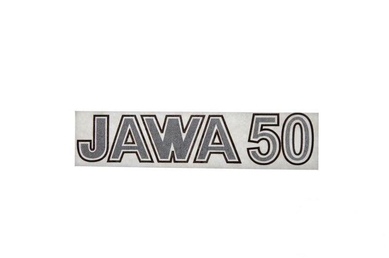 Embléma JAWA 50 Ezöst 10db