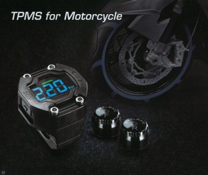 TMPS motorkerékpár Aktív guminyomás és hőmérséklet mérő kijelző