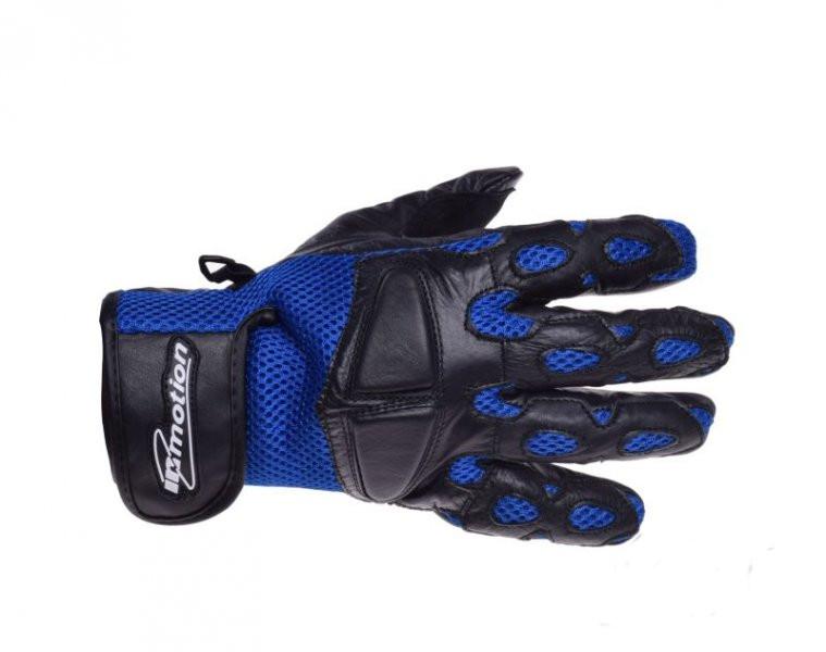 Motoros Bőr kesztyű Kék-fekete Mesh L