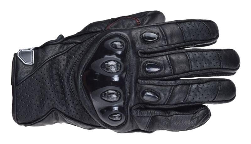 Motoros Textil bőr kesztyű XL kevlar protector Black