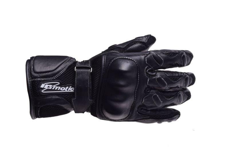 Motoros Kesztyű bőr, fekete téli mesh M