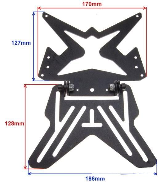Rendszámtábla tartó univerzális állítható fém robogó motor quad