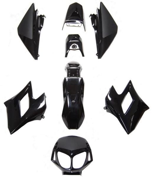 Idom burkolat szett DERBI SENDA XTREME SM50 DRD RACING BLACK FEK