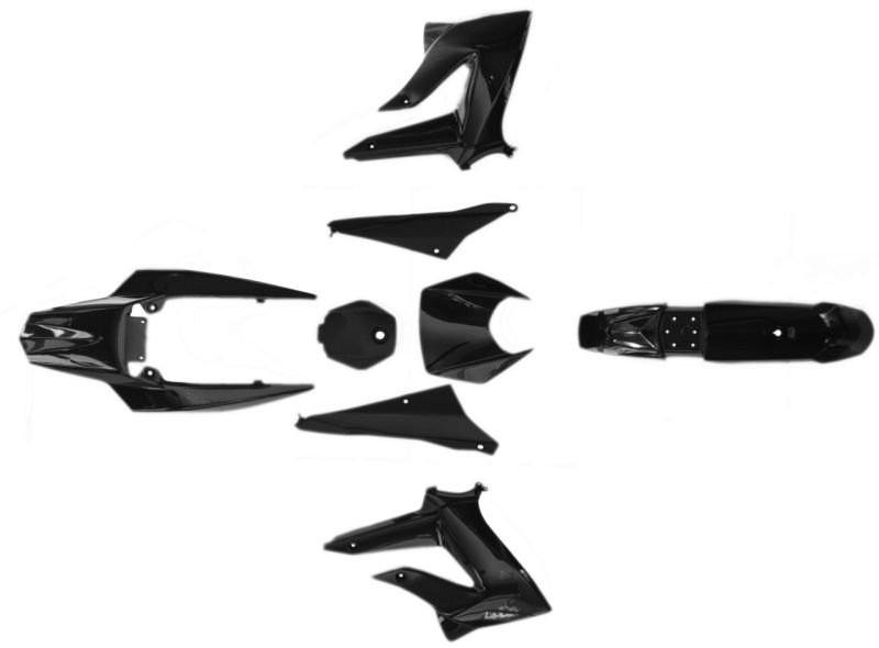 Idom szett DERBI SENDA III 2011 XTREME SM50 DRD Racing fekete