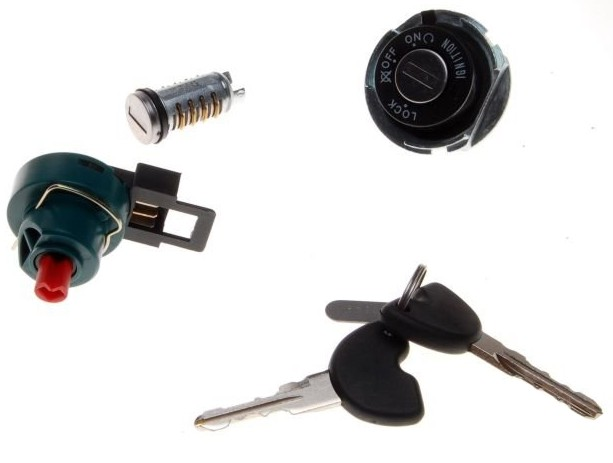 kapcsoló szett + kulcs gyújtás Piaggio Fly 125