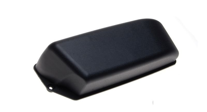 Akkumulátor fedél fekete műanyag Piaggio Fly 50 125