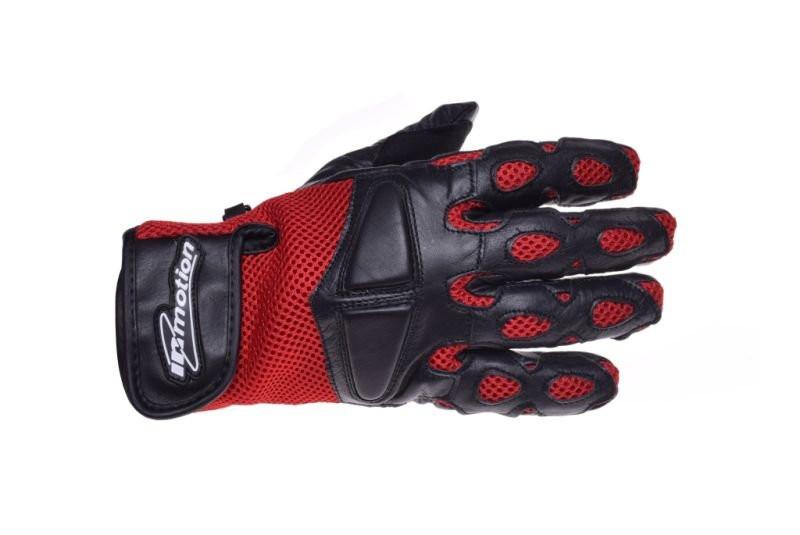 Motoros Bőr kesztyű Piros-fekete Mesh M