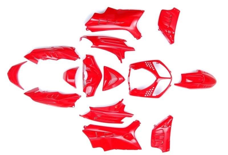 idom szett Peugeot Speedfight I-II 50 100 piros 14 db