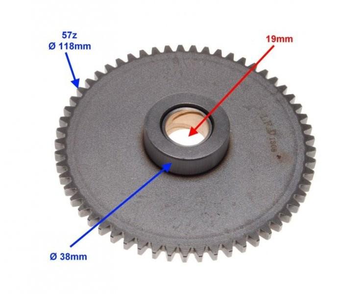 fogaskerék szabadonfutó önindító motorhoz ROMET ZETKA