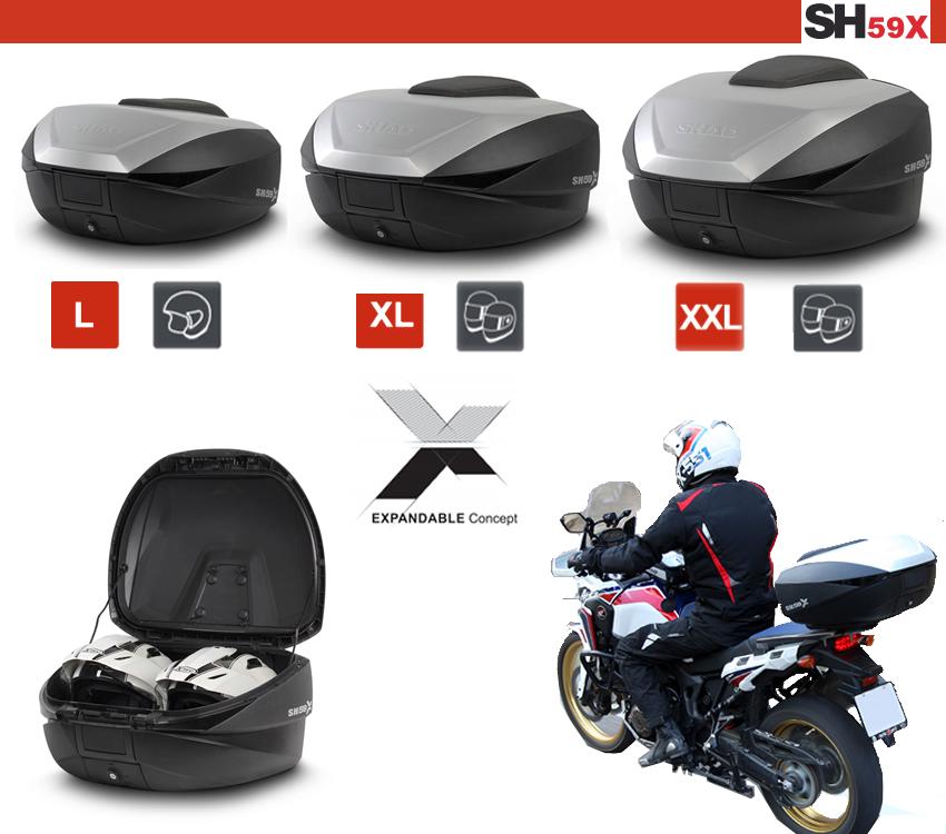 Hátsó doboz SHAD SH59X 3-állásban bővíthető