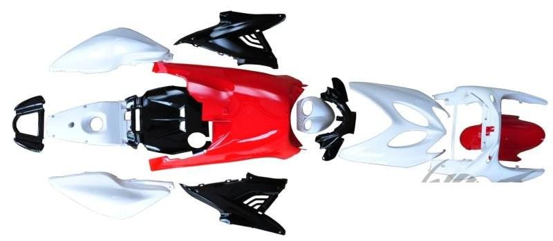 idom szett komplett Yamaha Aerox 50 100 piros fehér