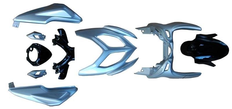 Idom burkolat szett ezüst fekete Yamaha Aerox 2013-2014