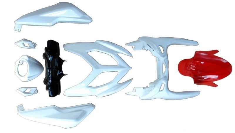 Idom burkolat szett fehér piros Yamaha Aerox 2013-2014