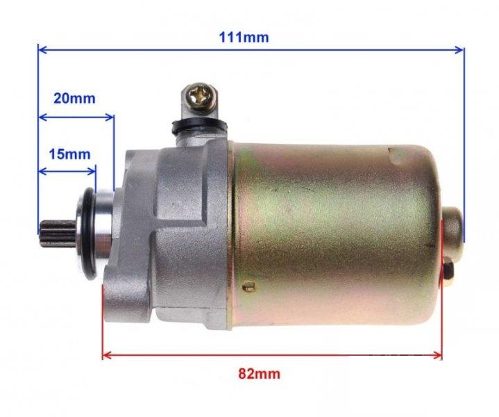 önindító motor komplett Gulliver 50 GY6 50 4T 139QMB KINROAD XT5